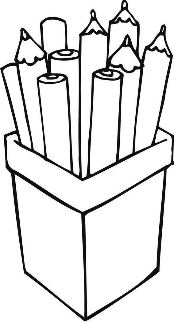 Pencil Holder Desk Organizer Coloring Page Com Imagens Riscos