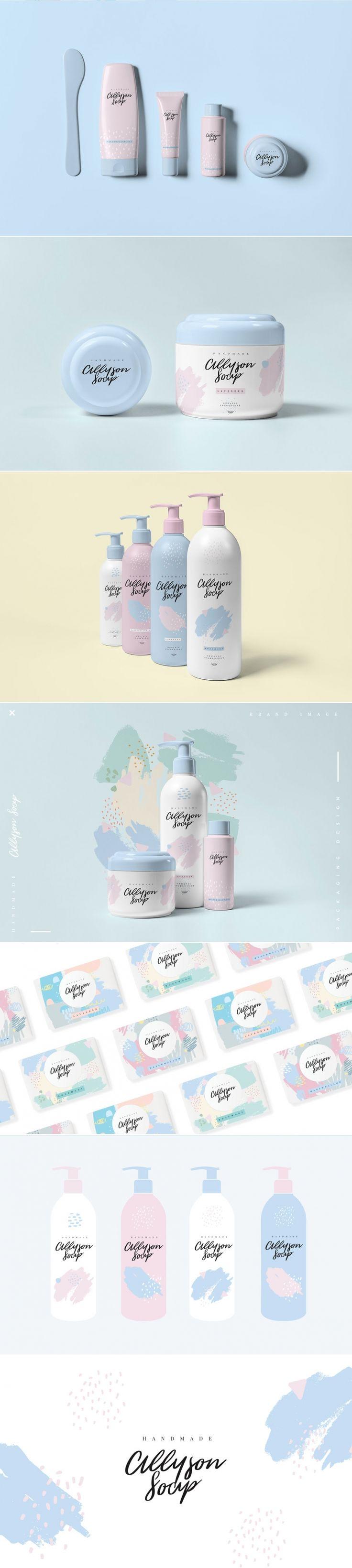 Allyson Soap's Light and Feminine Branding and Packaging — The Dieline | Packaging & Branding Design & Innovation News