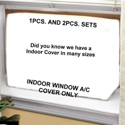 Air Conditioner Cover – Window /thru Wall – Outdoor – 26W, 16H, 16D – White  All our Window Covers are heavy duty, waterproof, non-scratching, poly-fabric with felt backing….. They keep warmth in your home and cold drafts out. ….. Covers are sewn using reinforced nylon thread for non-tearing and long-lasting seams and corners and are reusable year after year. …..Our Covers have a bottom and can be used for horizontal and vertical applications. ….. Heavy-duty security strapping (400lb..
