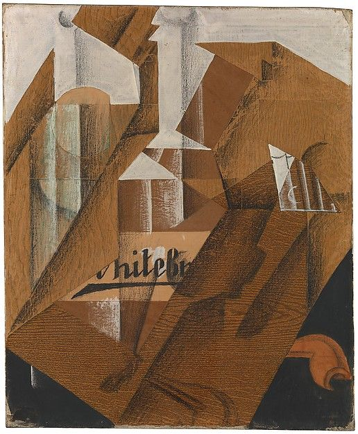"""Juan Gris (Spanish, 1887–1927). The Bottle, 1914. The Metropolitan Museum of Art, New York. Promised Gift from the Leonard A. Lauder Cubist Collection. 