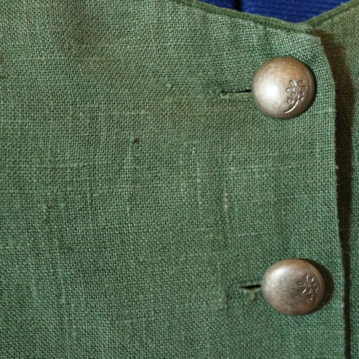 traditional dress green beige size 42 m leinen beige white collar