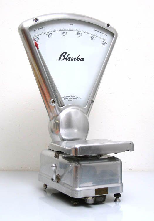 Vintage Bizerba weighing scale 1959, mategot style, retro, fifties, eames, raymond loewy, streamline, bauhaus