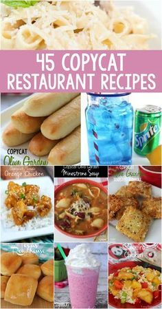 45 Copycat Restaurant Recipes (Olive Garden, Starbucks, Wendy's, Sonic, Chili's, Panda and more!) - Raining Hot Coupons