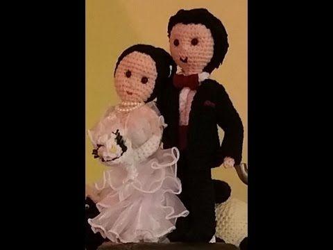 Sposi all'uncinetto amigurumi - parte I di V - la sposa - YouTube