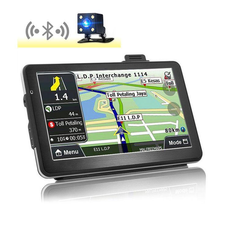 Inch Hd Car Gps Navigation Bluetooth Av In Capacitive Screen Fm Gbmb