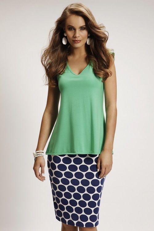 4141 Flared T-Shirt 5076PRT Pencil Skirt
