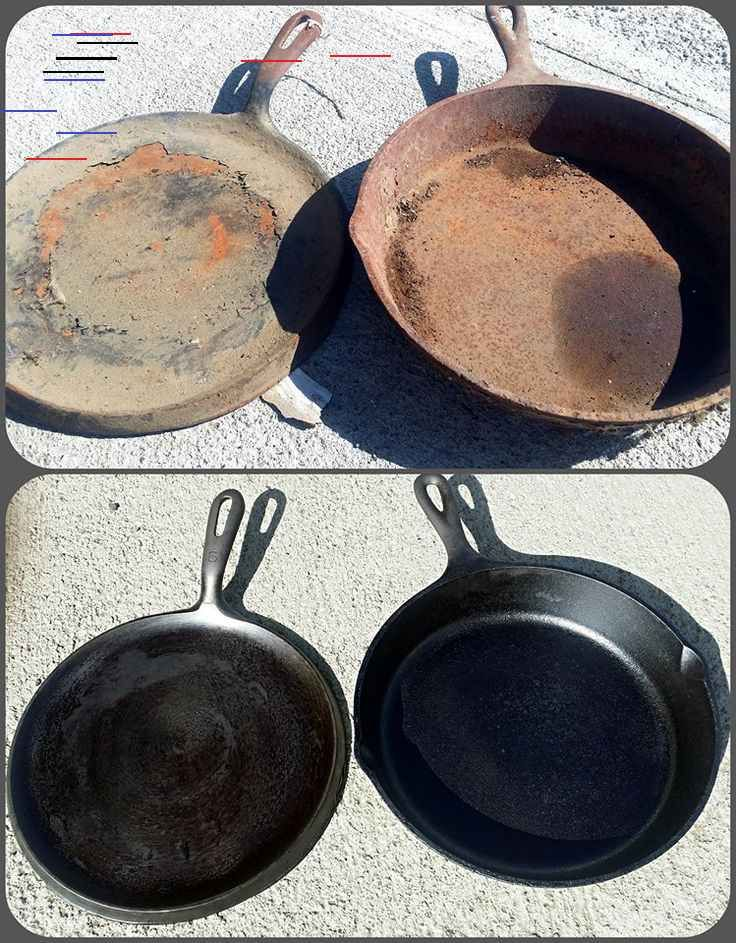 Extreme Cast Iron Clean And Restore Guest Post By Mark L Hammond Extreme Cast Iron Cle In 2020 Cleaning Cast Iron Pans Cast Iron Cleaning Cleaning Cast Iron Skillet