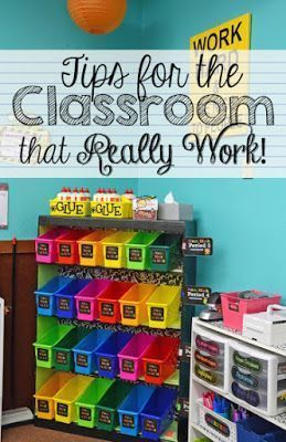 Classroom organization and tips for your classroom!