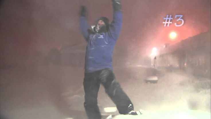 """""""Yes! We got it baby!!"""" How many times does Jim Cantore experience thundersnow in Boston??! Watch him geek out as Winter Storm Neptune intensifies off the Ne..."""