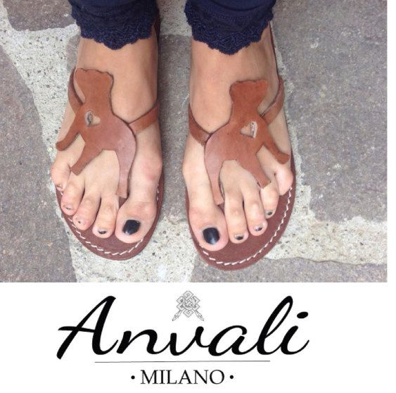Pitbull Amstaff Bully Lady Shoes Flip Flops leather by Anvali