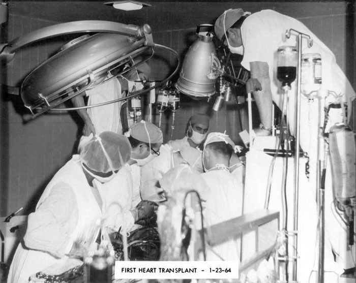 photo of the first ever heart transplant, 1964
