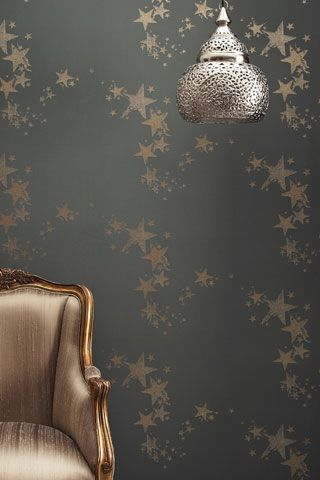 Chanel inspired wallpaper: Silver Stars, Inspiration Wallpapers, Wallpaper I, Starry Wallpapers, Stars Wallpapers, Painting Silver, Reading Nooks, Barnebi Gates, Chanel Inspiration