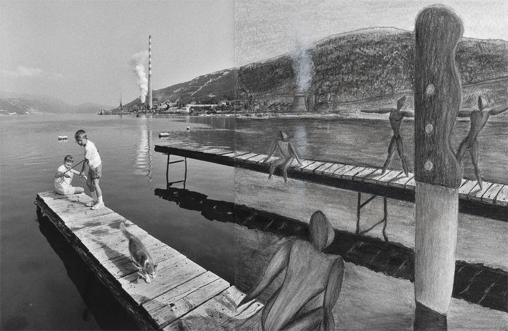 Francesco Mangiaracina -Transpozycja wizualna 108 - mixed media - fotografia -rysunek - 50x70 cm - 2012 r.