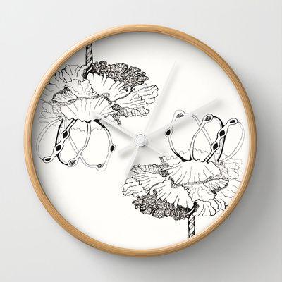Magic Rings Wall Clock by Alina Sevchenko - $30.00