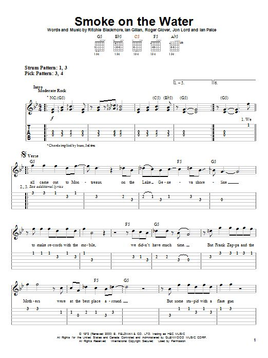 Easy Classic Rock Guitar Tabs For Beginners - guitar ...