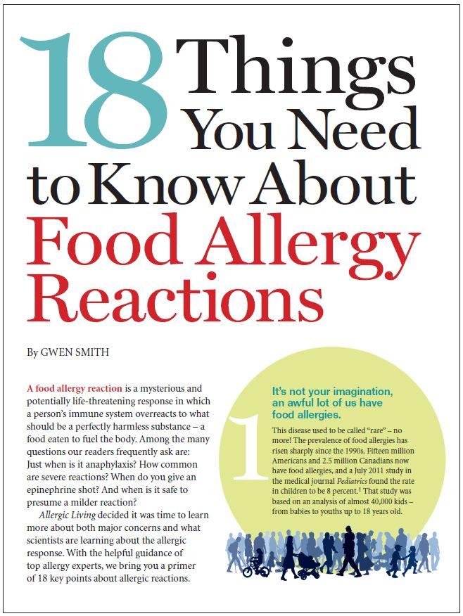 Milk Allergy Mom: Allergic Living on Food Allergy Reactions