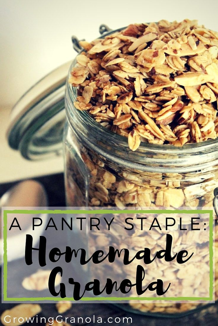 Simple and delicious homemade granola recipe.