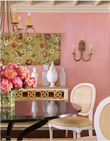 10 best Pink Dining Rooms images on Pinterest | Dining room, Dinner ...