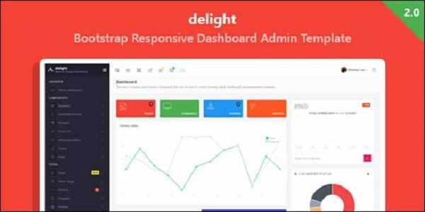 Delight is a present day, material outline situated Bootstrap dashboard administrator layout. It highlights a responsive, portable first outline with measured resources structural engineering.