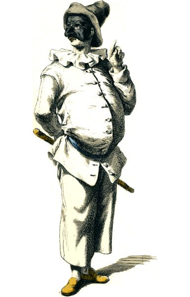 """.La maschera di Pulcinella è stata ufficialmente inventata dall'attore Silvio Fiorillo nella seconda metà del 500. Ma le sue origini sono molto più antiche: c'è chi dice sia inspirato dal """"Pulcinello"""" un piccolo pulcino dal naso adunco e chi invece sostiene che sia un contadino di Acerra, Puccio d'Aniello, unitosi nel '600 ad una compagnia di girovaghi. Altri ancora lo fanno risalire ad un personaggio del IV ,""""Maccus"""", personaggio delle Atellane che si esprimeva in un dialetto campano…"""