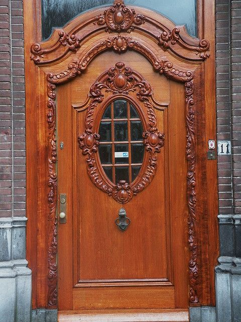 Antique Carved Wooden Door--beautiful, pined from Jen rose - Best 1691 DOORS WITH CHARM Ideas On Pinterest The Doors, French