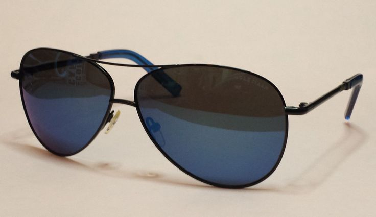 Cole Haan Polarized Men #aviator sunglasses Blue Mirrored Lens Blk metal frame ColeHaan visit our ebay store at  http://stores.ebay.com/esquirestore