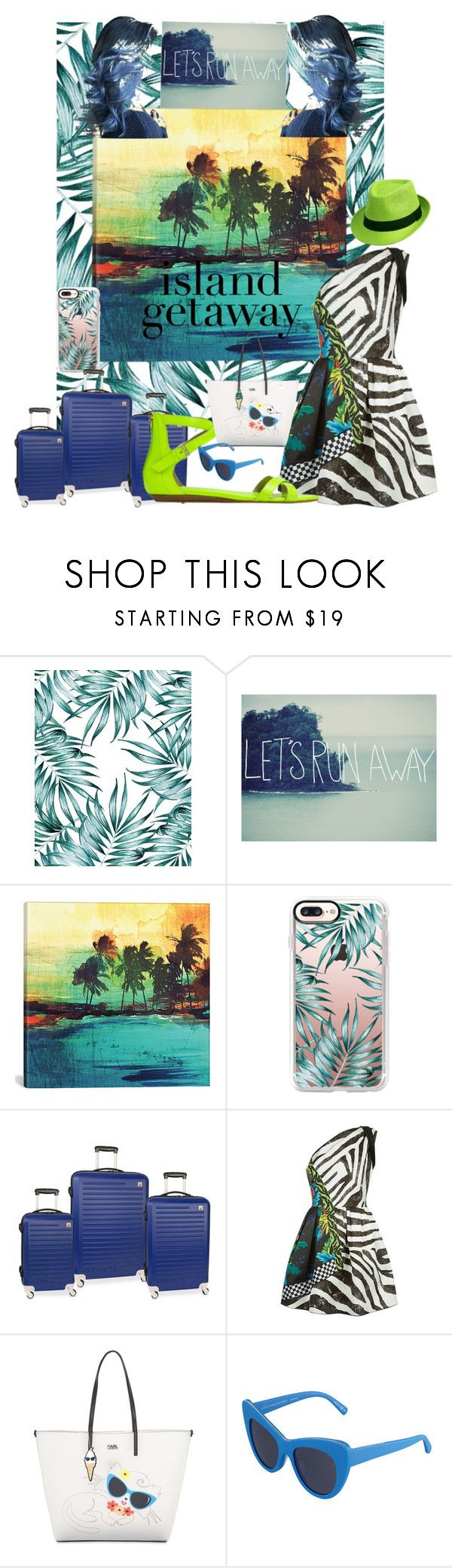 """""""Travel style-- The Island Getaway"""" by scope-stilettos ❤ liked on Polyvore featuring iCanvas, Casetify, Nautica, Marc Jacobs, Karl Lagerfeld and STELLA McCARTNEY"""