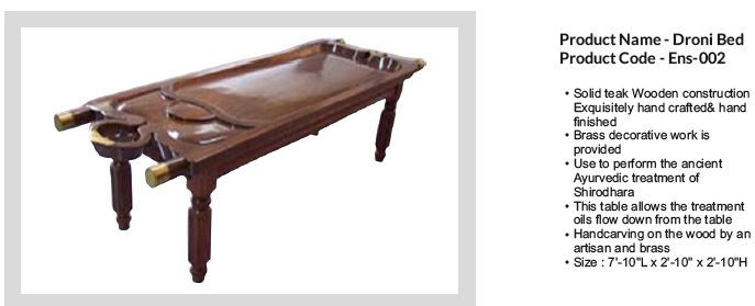 Ensis Spa Panchkarma Dhroni Massage Bed Massage Bed Brass Decor Ayurvedic Treatment