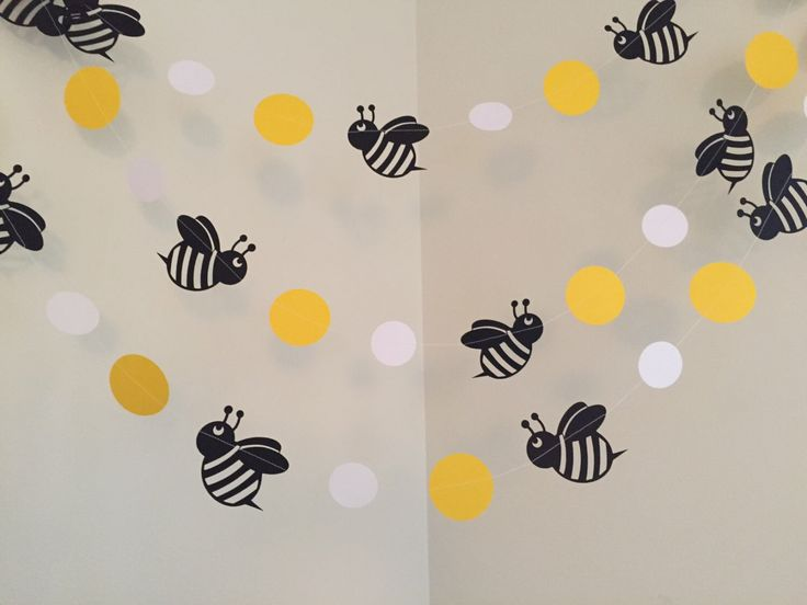 Mommy To Bee Bumble Baby Shower Decorations Birthday Party Decoration Paper Garland