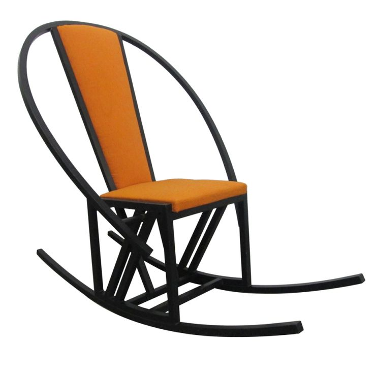 Superb Unique Japanese Rocking Chair With A Black Lacquered Oak Frame. Modern  Rocking ChairsSeesawWood ...