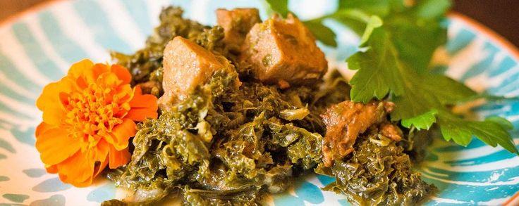 Heerlijk stoofpotje van seitan met truffelolie en savooikool #amanprana #noblehouse #amanvida #stoofpotje #bertyn #seitan #truffelolie #savooikool #vegetarisch #bio #gezond