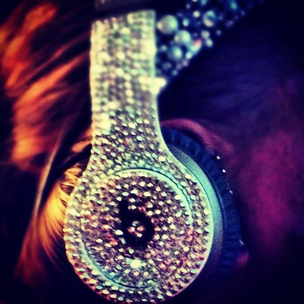 Blinggg Dr. Dre Beats Headphones. $550.00, via Etsy.