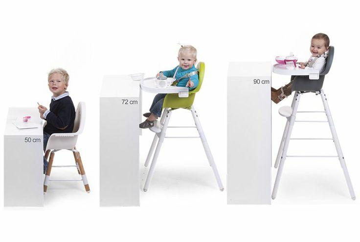 chaise haute evolu gris avec tablette et set de pieds kadolis maison gt cuisine