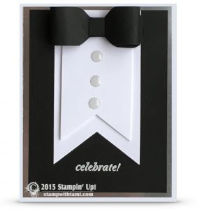 VIDEO: Black Tie Tuxedo Card for New Years and other Events | Stamp With Tami | Bloglovin'