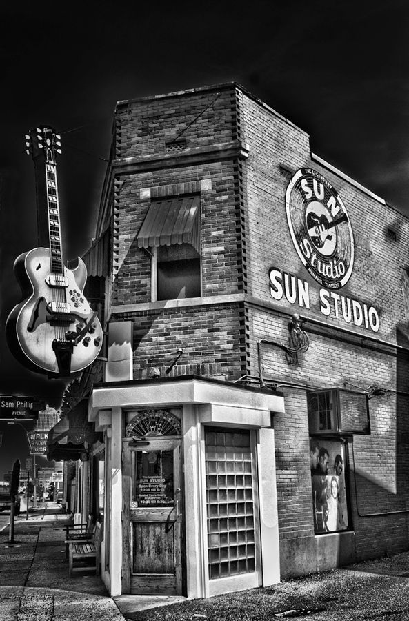 Sun Studio, where Elvis Presley, Johnny Cash, Carl Perkins and Jerry Lee Lewis, among others, recorded in the 50s. Still a functioning studio, it has been used by U2, Bonnie Riatt, Ringo Starr, John Mellencamp and many other artist, who consider it sacred ground.