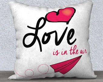 Housse de coussin, L'amour est dans l'air 18x18