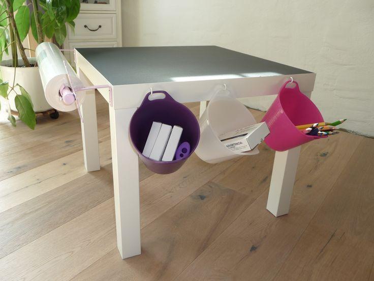Cool Maltisch f r die Kleinen Ich habe einen einfachen Tisch mit Tafelfolie beklebt An der