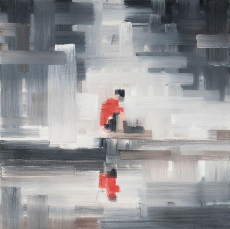 Rafał Bujnowski, Bez tytułu, 2007, olej na płótnie, 55 x 55 cm
