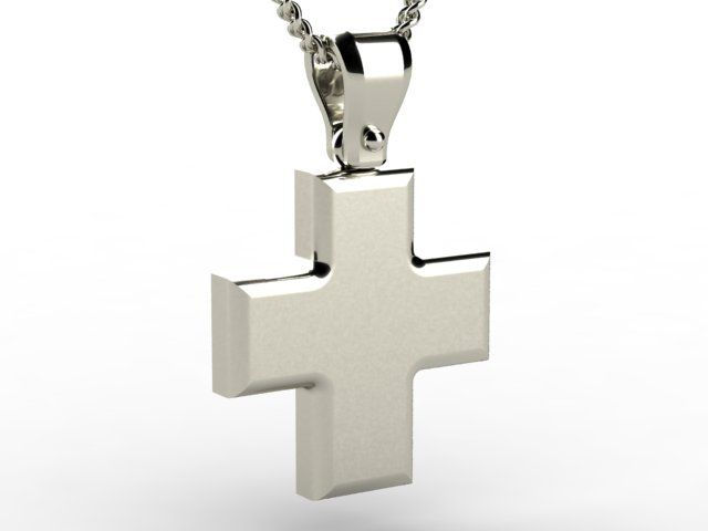 Greek Baptism White Gold pure 14K Men's Orthodox Cross - Paul Jewelry