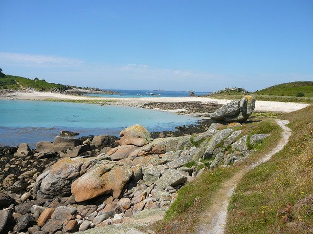 Gugh island, isles of Scilly, cornwall