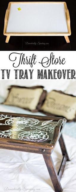 TV Tray Makeover… National Thrift Store Day Blog Hop | Workout Craze