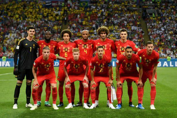 Belgium Pose For A Team Photo Prior To Prior To The 2018 Fifa World Belgium Team Team Photos Soccer Team Photos