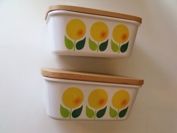 Flora Finland, Finland Melamine Flora Butter Margarine Jars ContainersSet of Two on Etsy, $20.48
