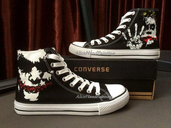 d1263d12f9ae Joker Converse Custom Hand Painted Shoes Custom Converse