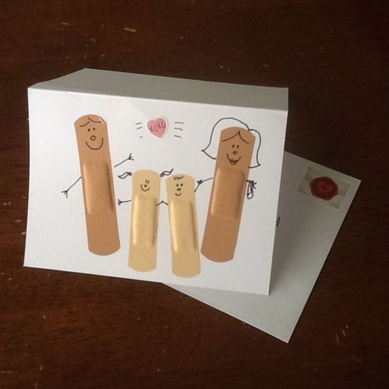 Make a Cute Band-Aid Get Card for your sick students.