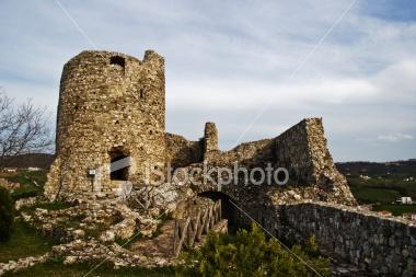 Old Damaged Castle Rock