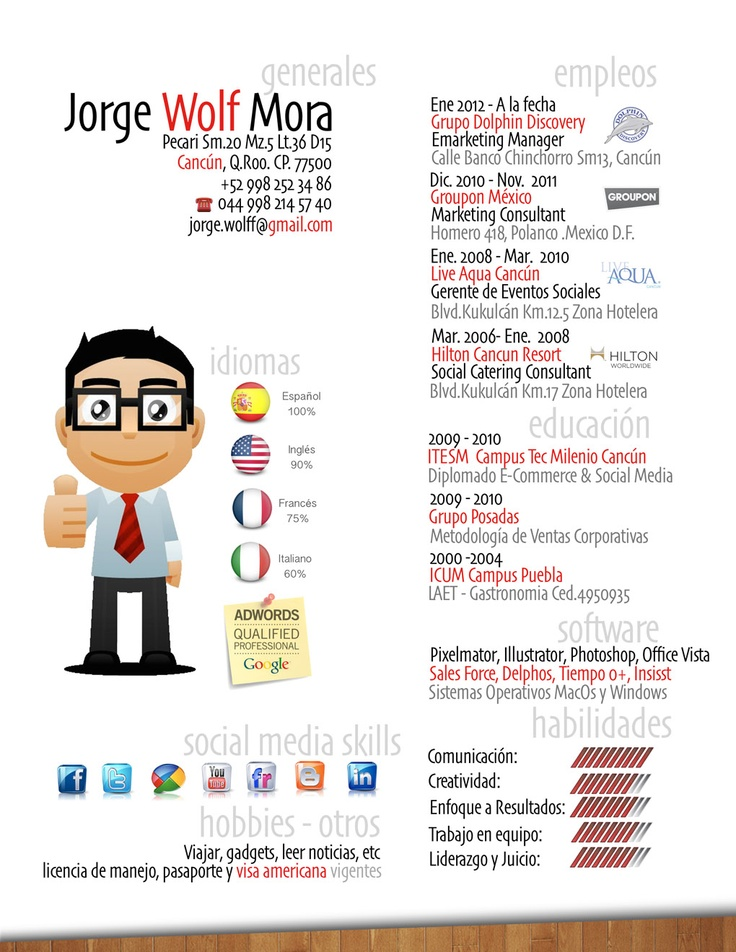 15 best ejemplos de cv en español images on pinterest resume