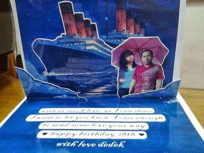 snappopup: Pop up card: titanic - jakarrta