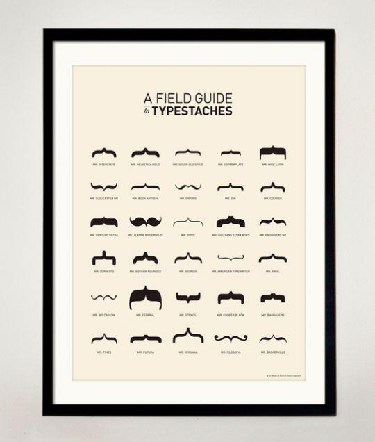 LE tableau indispensable du Moustachu (qui aime changer de moustache)