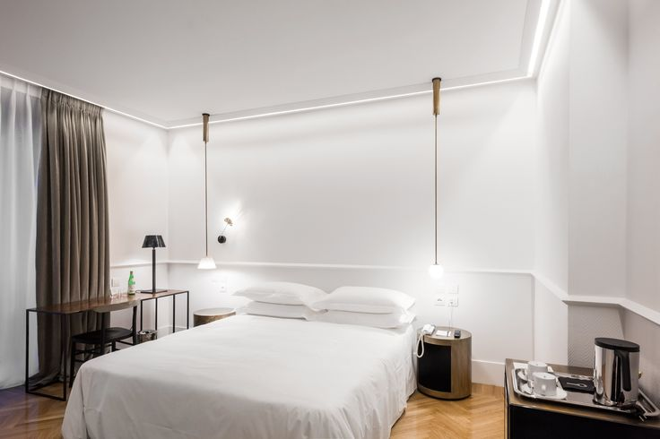 Room interiors at Senato Hotel Milano